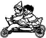 Kids on Kiddy Car