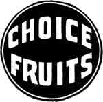 Choice Fruits Label