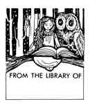 Girl and Owl Bookplate