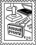 Rubber Stamp Post