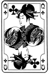 Japanese Queen of Clubs