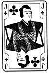 Japanese Jack of Clubs