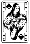 Japanese Queen of Spades