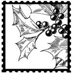 Holly Postage Square