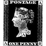 One Penny Postage Lg
