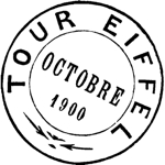 Eiffel Tower Postmark Mini