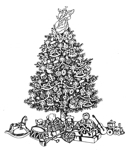Decorated Christmas Tree w/Toys