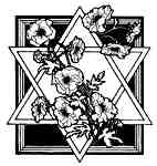 Flowery Star of David - Sml
