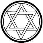 Star of David in circle