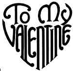 To my valentine heart shaped words lg