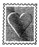 Embossed heart post