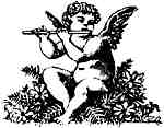 Angel playing the flute