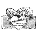 Fragile Handle w/care Heart w/Hat