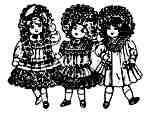 Doll friends trio