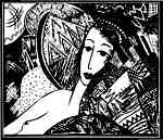 Tapestry lady