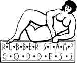 Rubber stamp goddess w/woman