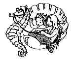 Mermaids Seahorse carriage