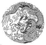 Chinese Dragon in Circle