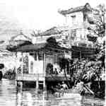 Chinese house by the river