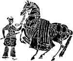 Horse & woman soldier