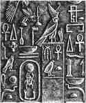 Hieroglyphs tablet