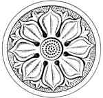 Lotus wheel Gandhara Pakistan