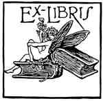 Fairy on book ex libris