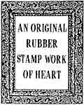 Original rubber stamp work of heart frame