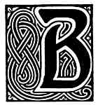 B Fancy Initials