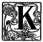 K Fancy Initials