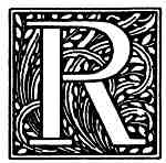R Fancy Initials