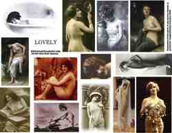 Semi Nude Beauties Collage Sheet