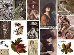 Ladies of the Fall Collage Sheet