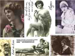 Flappers Lg Collage Sheet