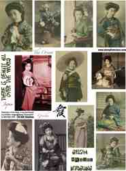Geishas Collage Sheet