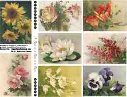 Watercolor Flowers Collage Sheet