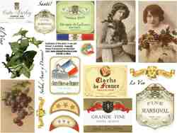 Le Wine Collage Sheet
