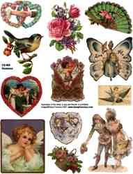 Romance Collage Sheets