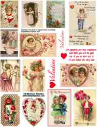 Sweet Valentine Collage Sheet