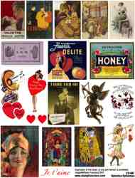 Valentine Ephemera Collage Sheet
