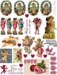 Valentine Cupids Collage Sheet