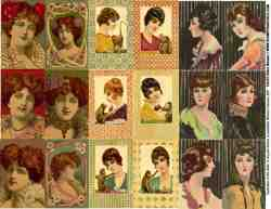 ATC Women Collage Sheets