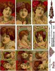 Art Nouveau Ladies Collage Sheets