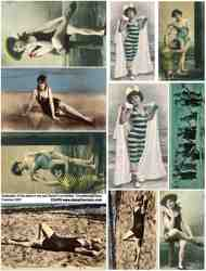 Bathing Beauties 1 Collage Sheet