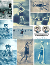 Bathing Beauties 2 Collage Sheet