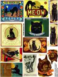 Halloween Cats Collage Sheet
