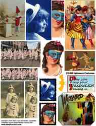Halloween Costumes Collage Sheet
