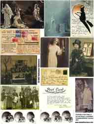 Halloween Photos & Ephemera Collage Sheet