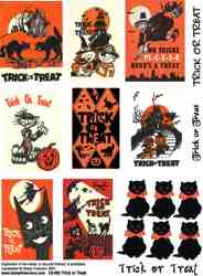 Halloween Trick or Treat Collage Sheet