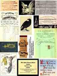 Halloween Ephemera 2 Collage Sheet